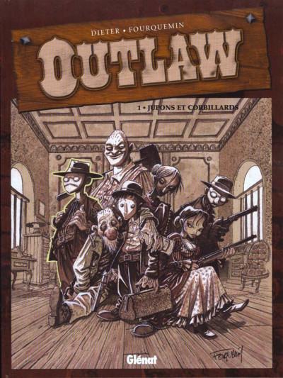 Couverture outlaw tome 1 - jupons et corbillards