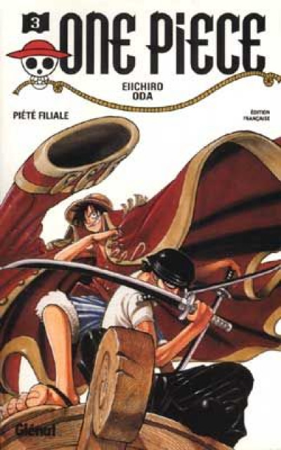 Couverture one piece tome 3 - piété filiale