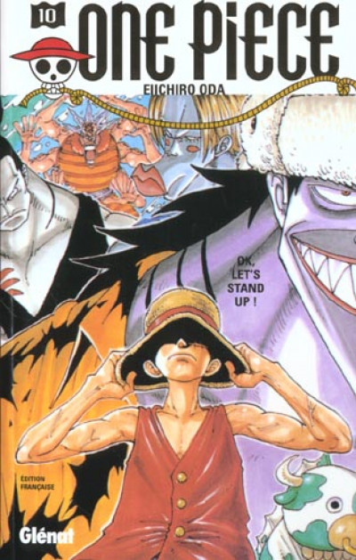 Couverture one piece tome 10 - ok let's stand up