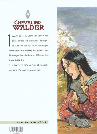 Dos chevalier walder tome 6 - chevalier teutonique
