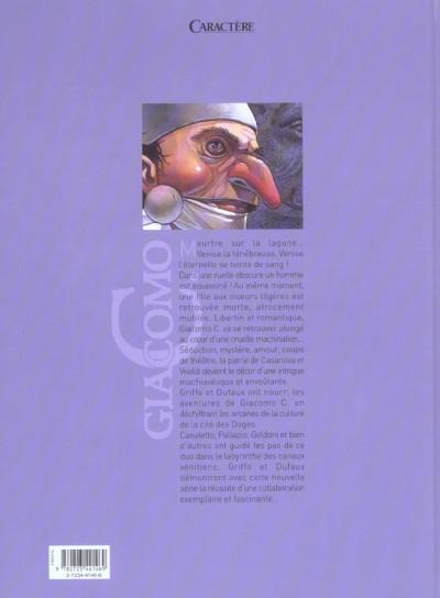 Dos giacomo c. tome 1 - le masque dans la bouche d'ombre