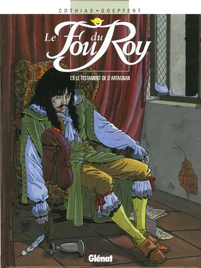 Couverture le fou du roy tome 9 - le testament de d'artagnan
