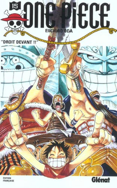 Couverture one piece tome 15 - droit devant