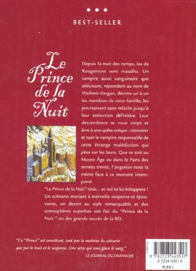 Dos Le prince de la nuit - intégrale tome 1 à tome 5