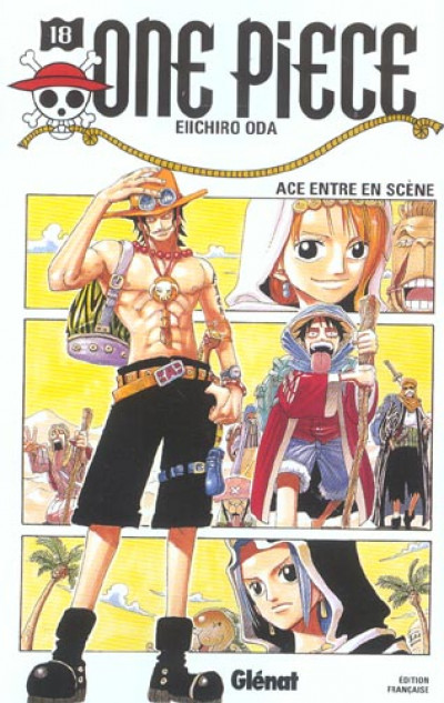 Couverture one piece tome 18 - ace entre en scène