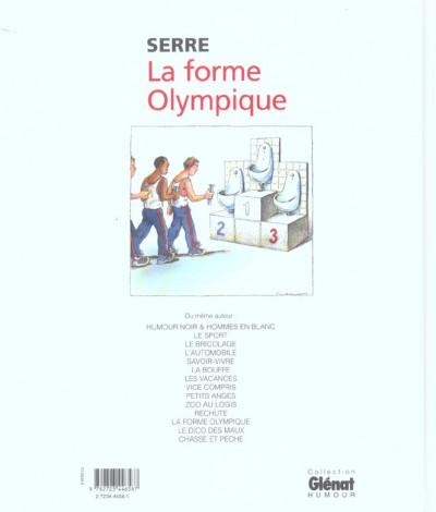 Dos la forme olympique