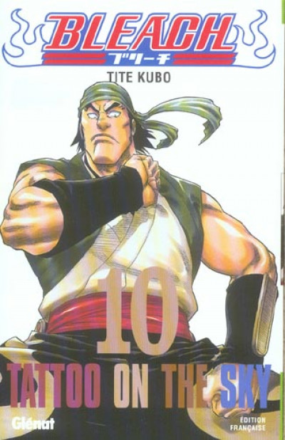 Couverture bleach tome 10 - tatoo on the sky