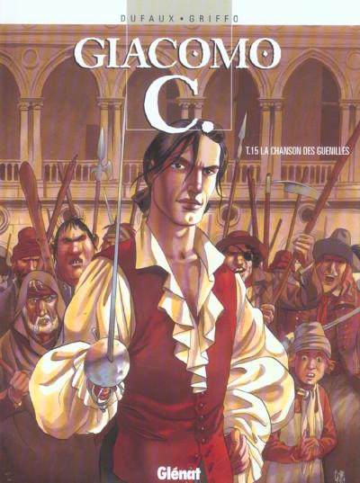 Couverture giacomo c. tome 15 - la chanson des guenilles