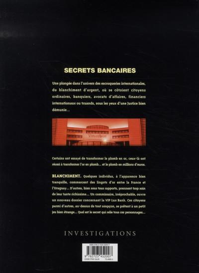 Dos secrets bancaires tome 2.1 - blanchiment