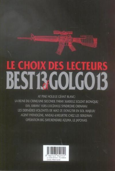 Dos best 13 of golgo 13 ; le choix des lecteurs