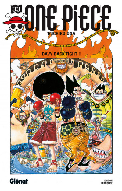 Couverture one piece tome 33 - davy back fight