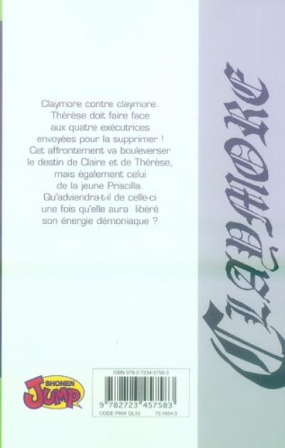 Dos Claymore tome 5