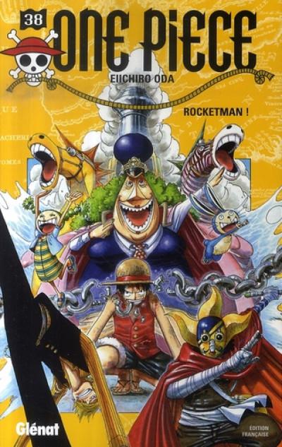 Couverture one piece tome 38 - rocketman !