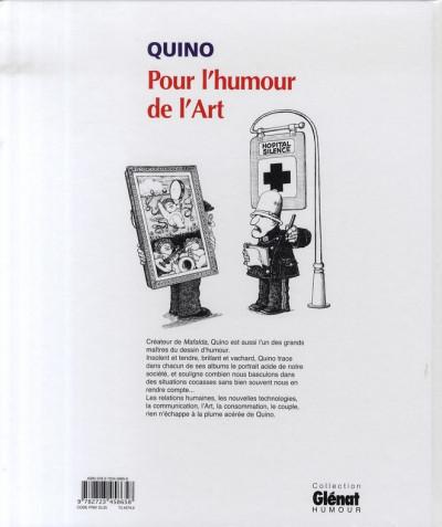 Dos pour l'humour de l'art