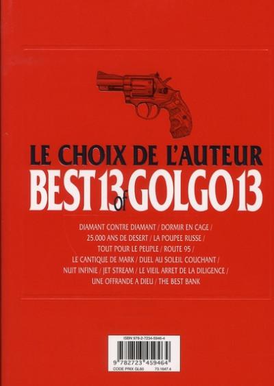 Dos best 13 of golgo 13 ; le choix de l'auteur