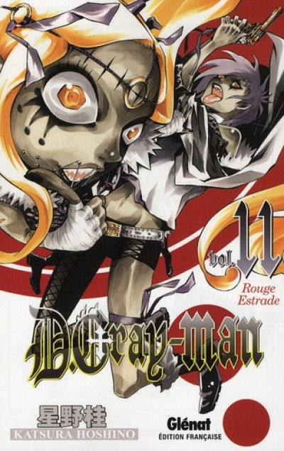 Couverture d.gray-man tome 11 - rouge estrade