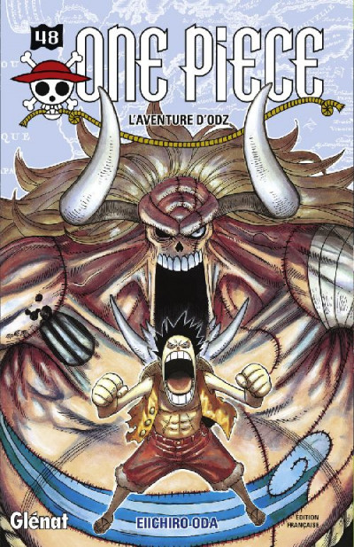 Couverture one piece tome 48 - l'aventure d'odz