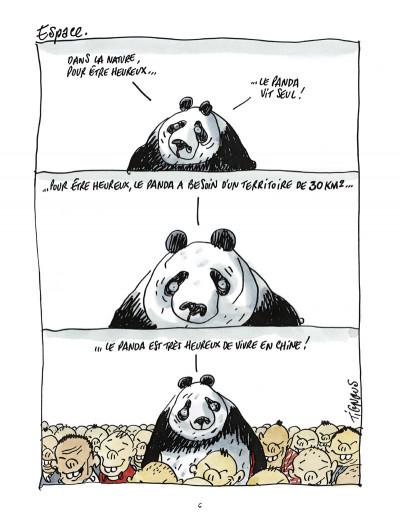 Page 4 pandas dans la brume ; dans les forêts de bambou