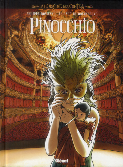 Couverture l'origine des contes ; Pinocchio