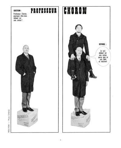 Page 5 les romans photo du professeur choron : réponse à tout