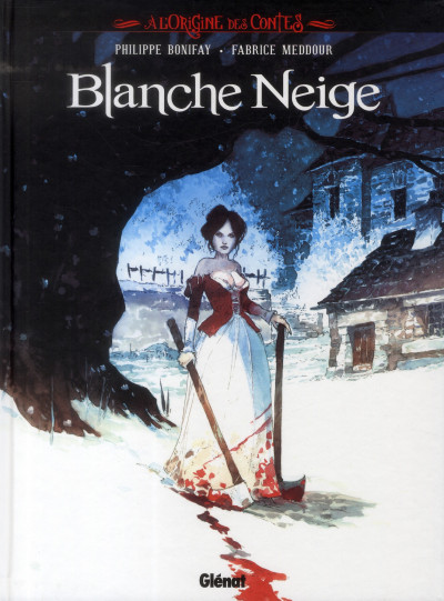 Couverture à l'origine des contes ; Blanche Neige