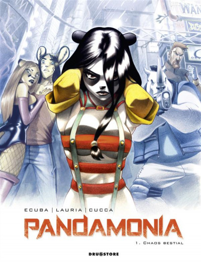 Couverture pandamonia tome 1 - chaos bestial