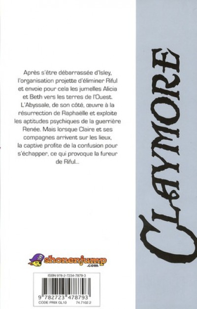 Dos Claymore tome 17