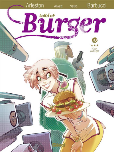 Couverture lord of burger tome 3 - cook' n' fight