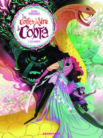 Couverture les contes de l'ère du cobra tome 1 - les amants
