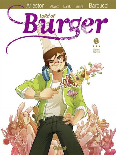Couverture lord of burger tome 2 - étoiles filantes - nouvelle édition 2/2