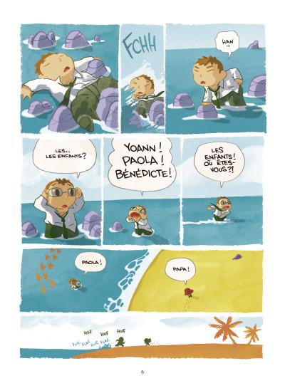 Page 4 Paola Crusoé tome 1 - naufragé