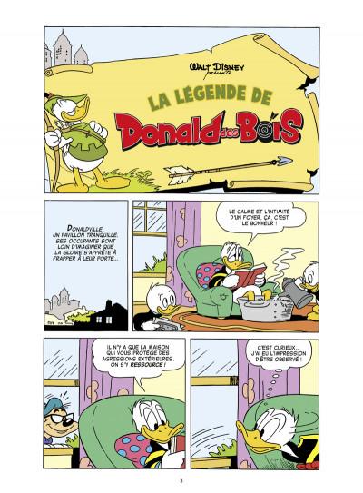 Page 1 Donald ; la légende de Donald des bois