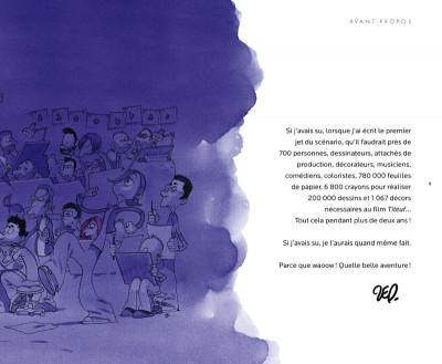 Page 2 Titeuf le film ; coffret art book