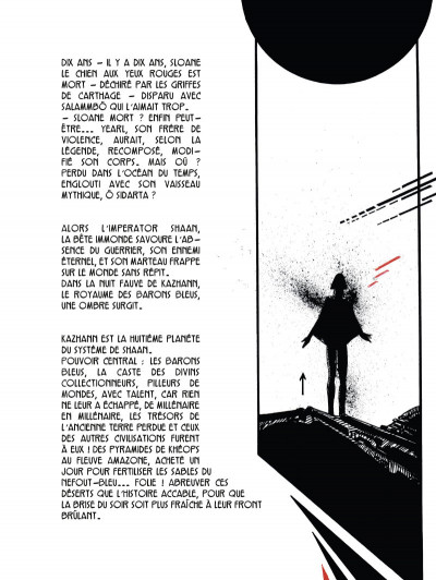 Page 1 Lone Sloane ; chaos (édition 2012)