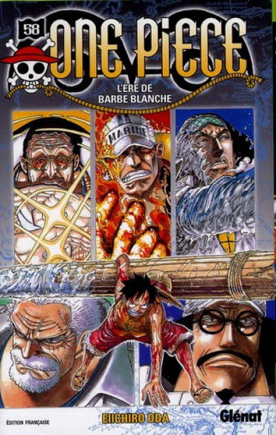 Couverture one piece tome 58 - l'ère de barbe blanche