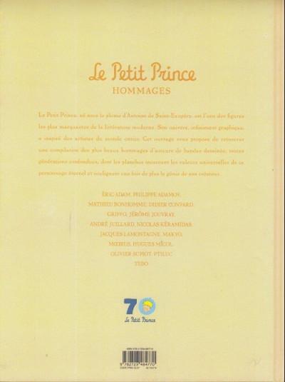 Dos Le petit prince - hommages