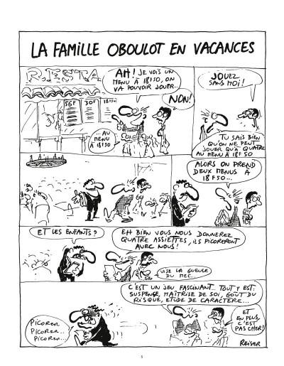 Page 3 la famille Oboulot en vacances