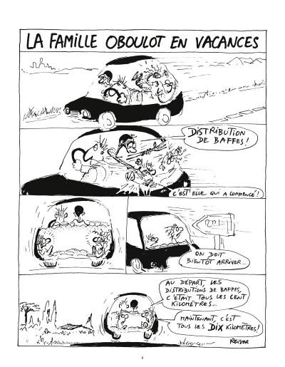 Page 4 la famille Oboulot en vacances
