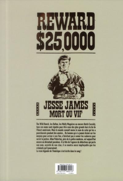 Dos Pinkerton tome 1 - dossier Jesse James - 1875