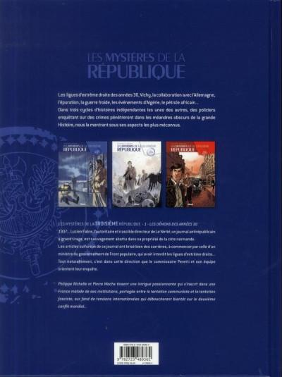 Dos Les mystères de la troisième République tome 1 - les démons des années 30