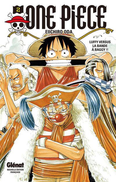 Couverture one piece tome 2 - Luffy versus la bande à Baggy !!
