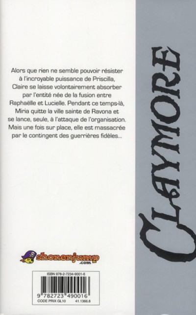 Dos Claymore tome 20