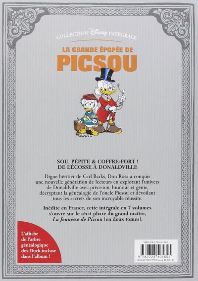 Dos La grande épopée de Picsou tome 1 - La jeunesse de Picsou