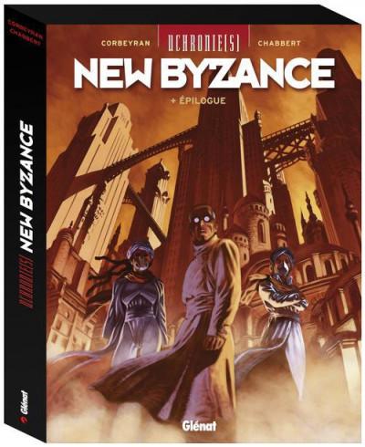Couverture uchronie(s) - New Byzance - coffret tome 1 à tome 3 - épilogue
