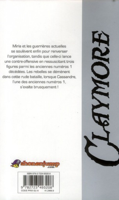 Dos Claymore tome 22