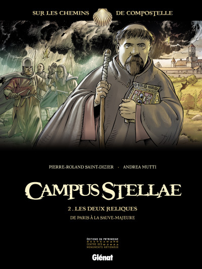 Couverture campus stellae, sur les chemins de Compostelle tome 2 - les deux reliques