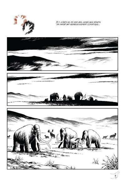 Page 1 L'art préhistorique en bande dessinée tome 2 - deuxième époque