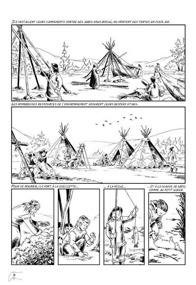 Page 4 l'art préhistorique en bande dessinée T.2 - deuxième époque
