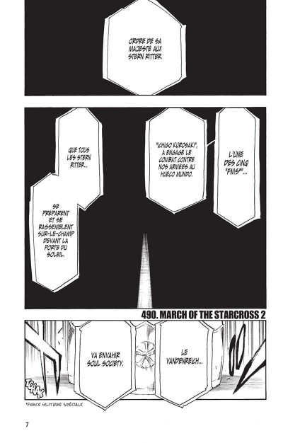 Page 6 Bleach tome 56 - march of the starcross