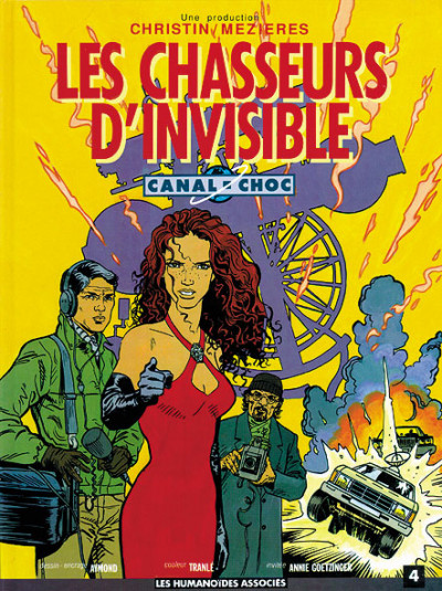 Couverture canal choc tome 4 - les chasseurs d'invisible